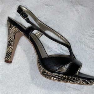 Anne Klein Strappy Platform Heels